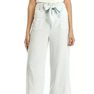 ADY P Pale Chambray  White Wide Leg Pants 16